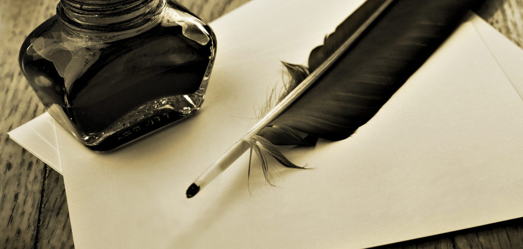 feathers and ink