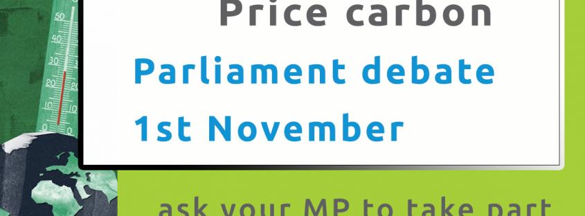 carbon pricing parliament debate 1 November 2021